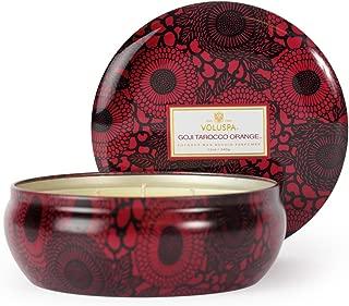 product image for Voluspa Goji and Tarocco Orange 3 Wick Candle In Decorative Tin, 12 Ounce