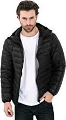 CHERRY CHICK Mens Ultra Light Down Padded Jacket with Hood