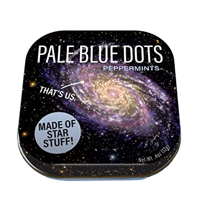 The Unemployed Philosophers Guild Carl Sagan Pale Blue Dots Mints - 1 Small Tin 1.75 x 1.75: Toys & Games