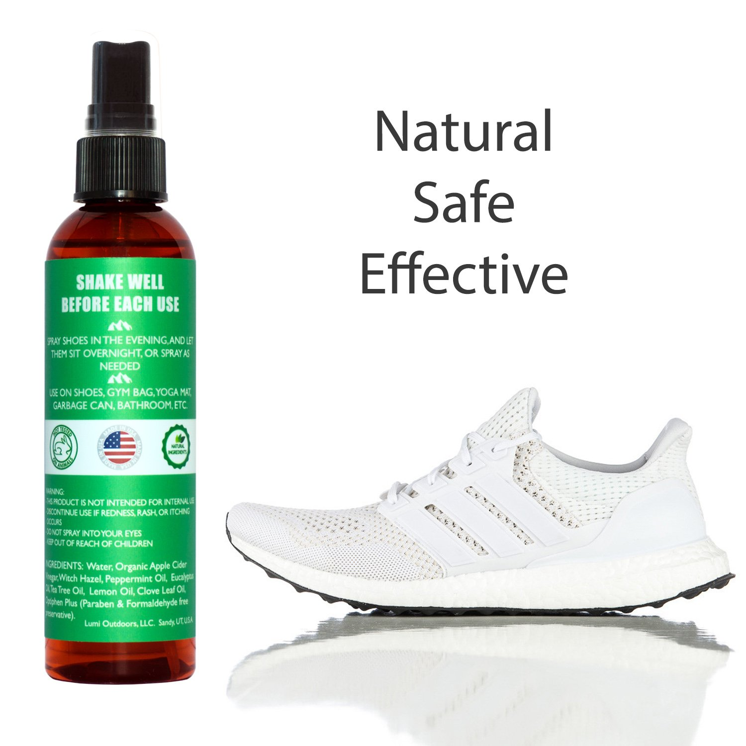 Amazon.com: Natural Shoe Deodorizer Spray and Foot Odor Eliminator - Extra  Strength Shoe Spray uses Essential Oils As Organic Deodorant - Peppermint,  ...