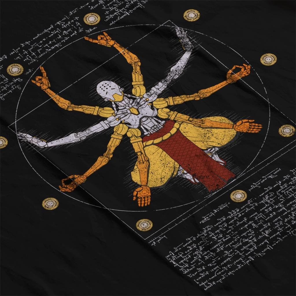 Cloud City 7 Overwatch Vitruvian Omnic Zenyatta Mens Vest