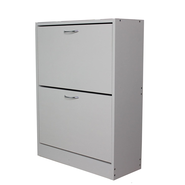 2 X White Plastic D Handle Pull Door FLAT Cupboard Wardrobe Fixing Draw