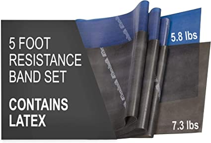 Thera-Band 6SCWzk1 Latex Resistance Bands 3pc Fitness Workout Rehab Exercise Pro