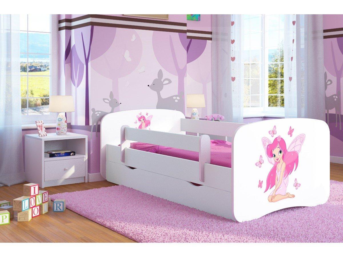Kocot Kids Kinderbett Jugendbett 70x140 80x160 80x180 Wei/ß mit Rausfallschutz Matratze Schublade und Lattenrost Kinderbetten f/ür M/ädchen und Junge Ballerina 140 cm