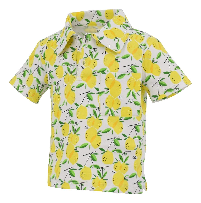 460bb5d4dbb Amazon.com  Unique Baby Boys Lemon Print Short Sleeve Collared Polo Shirt   Clothing
