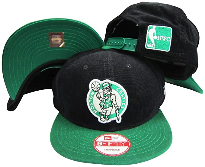 d242facc4 Amazon.com: New Era Boston Celtics Corduroy Black/Green Two Tone ...