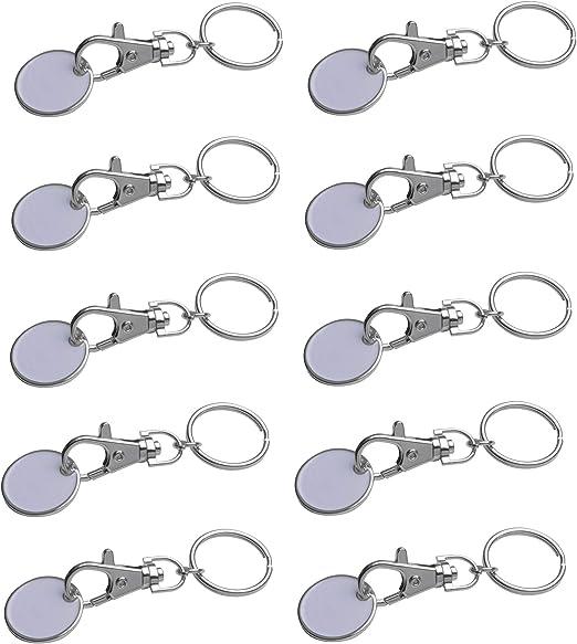 10x Metall Schlüsselanhänger Mit Einkaufschip Bekleidung