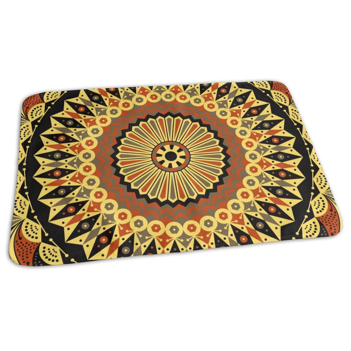 Osvbs Lovely Baby Reusable Waterproof Portable Colorful Ethnic Arabesque Patterned Background Changing Pad Home Travel 27.5''x19.7'' by Osvbs