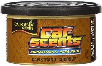 California Scents Ccs 416tr Lufterfrischer Kokosnuss Scents Pack Von 4 Langlebig Erfrischende Duft Umweltfreundlich Leichtes Bio Produkt Recycelbar Verstellbare Belüftete Deckel Tablett Von 4 Kanister Auto