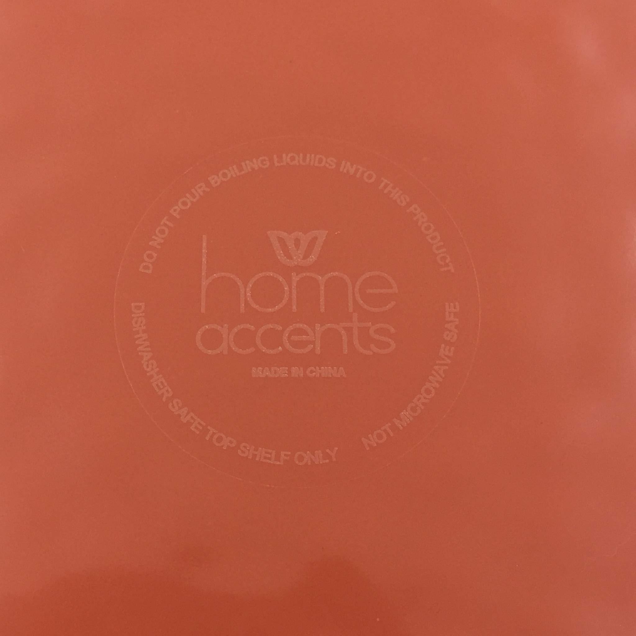 Home Accents Melamine Amber Beaded Edge Dinner Plate,Set of 4