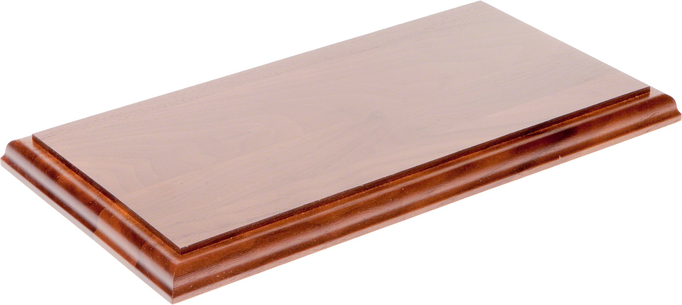 Plymor Brand Solid Walnut Rectangular Wood Display Base with Ogee Edge.75 H x 12'' W x 6'' D
