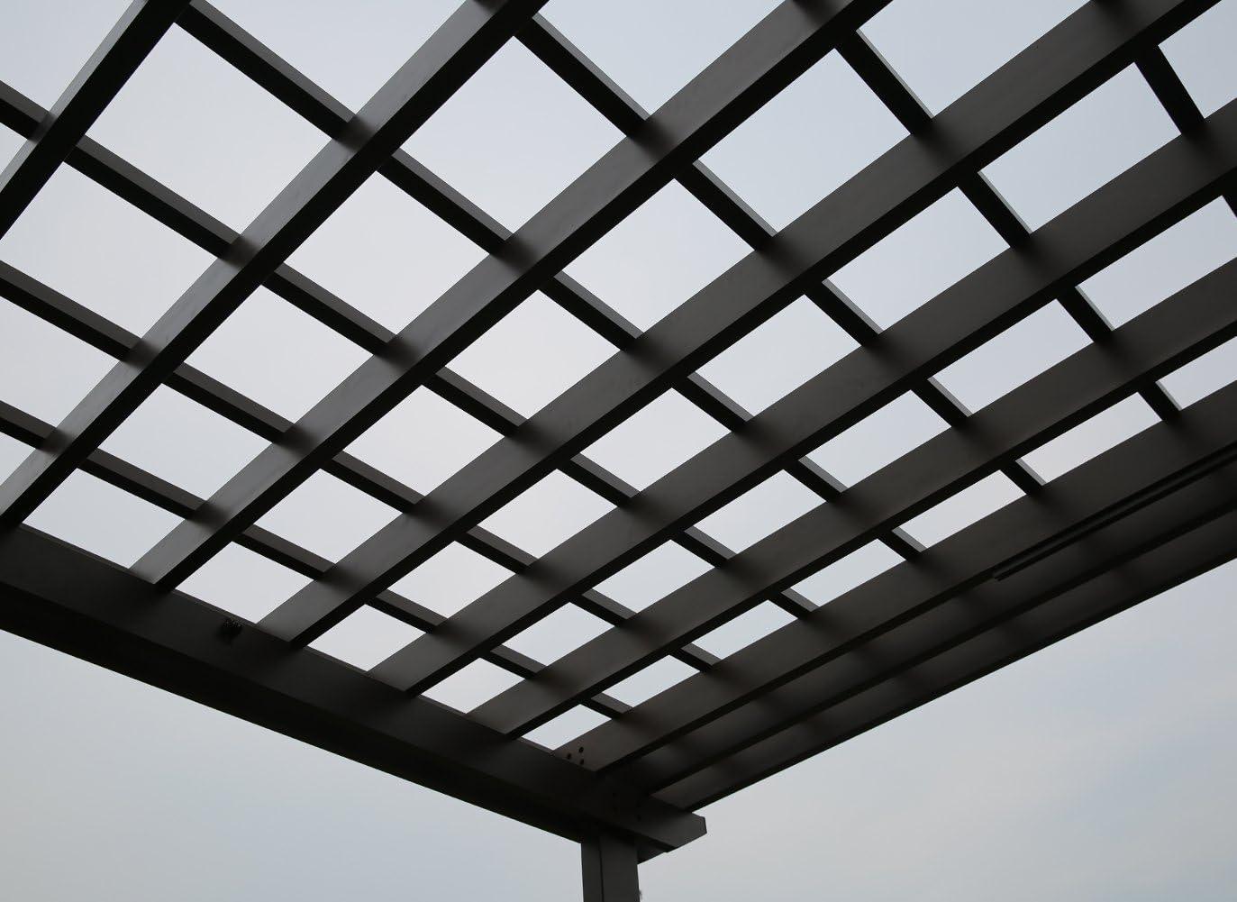sorara Pergola Marco de aluminio al aire libre Patio Jardín Sol ...