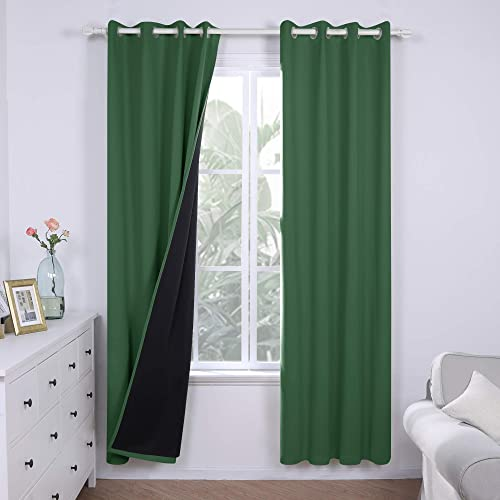 Deconovo Lined 100 Blackout Curtains 84 Inches Long Thermal Insulated Grommets Window Drapes Double Layers Curtains