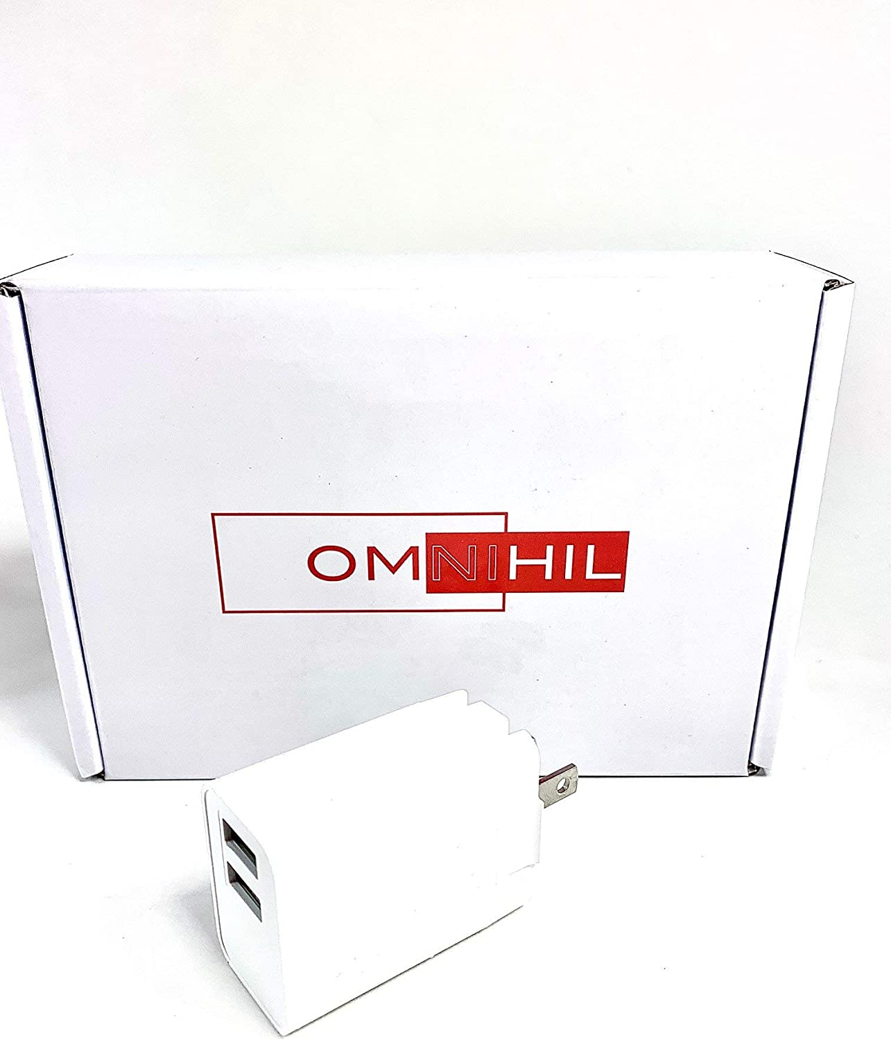 OMNIHIL 10 Foot Long Dual Micro-USB Splitter Cable Compatible with/Motorola T600 Talkabout Radio