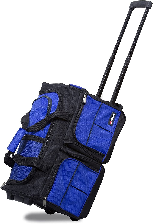 Hipack 20-inch Carry-on Rolling Duffle Bag Duffel