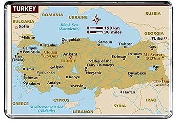 Karte Türkei.Cfl M211 Karte Von Türkei Kühlschrankmagnet Türkei Reise