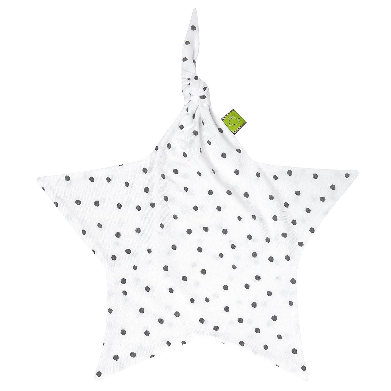 Julius Z/öllner Jersey Schnuffeltuch Schmusetuch ca 35x35 Dots grau