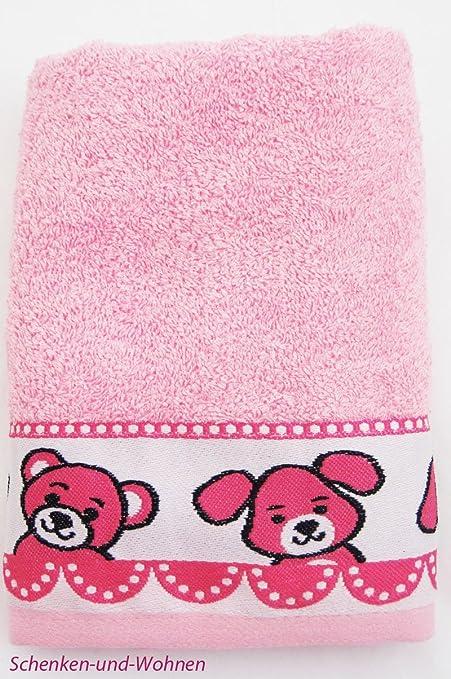 Brändl Niños de toalla con Jaquard de cenefa Teddy de perro de gato, color