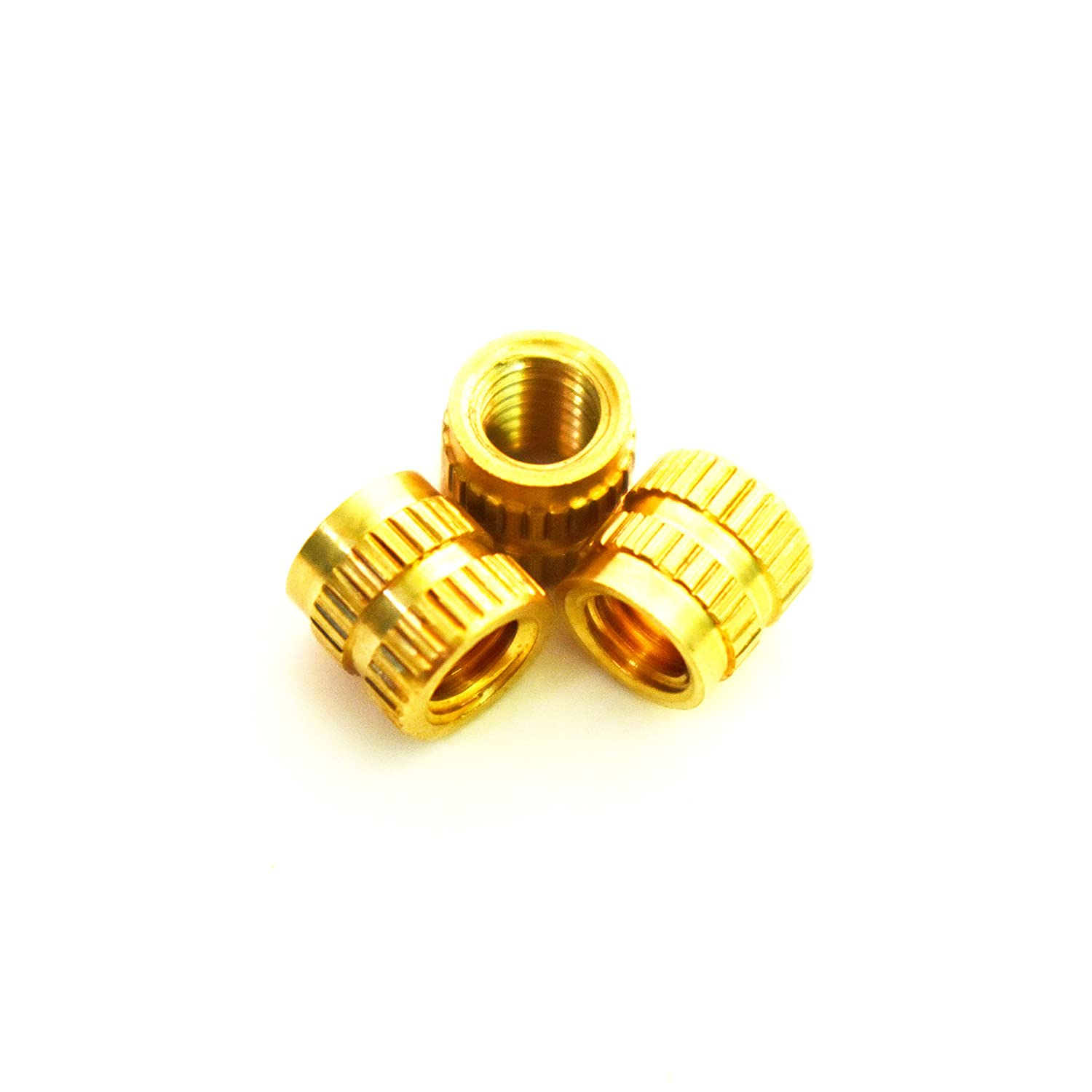 7.1 mm Length 7.1mm OD J/&J Products 20 pcs J /& J Products Female M5 Thread Press Fitting or Injection Molding Type M5 Brass Insert 20pcs