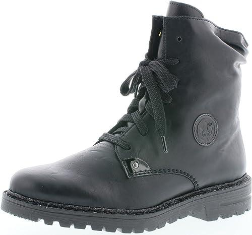 Rieker Damen Stiefel Stiefeletten Schnürstiefel Boots grau 70829   NEU!