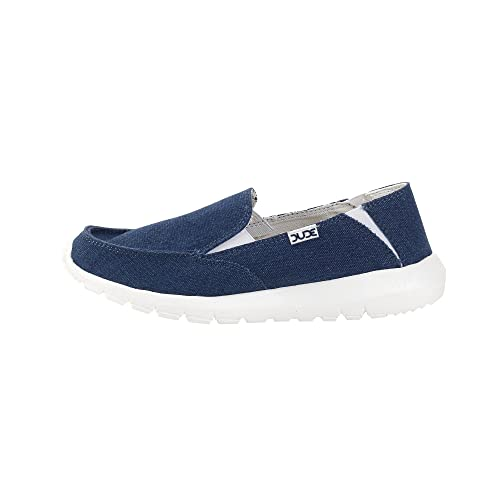 Dude Shoes Farty Kids Sea Blue Slip On / Mule 29 tD5Xv