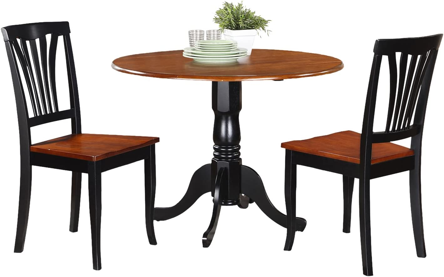 DLAV3-BCH-W 3 Pc Kitchen nook Dining set-Kitchen Table and 2 Kitchen Chairs