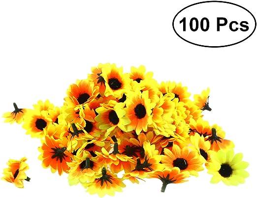 10pcs//Lot 4.5CM Daisy Artificial flower Silk Spherical Heads Wedding Decor DIY