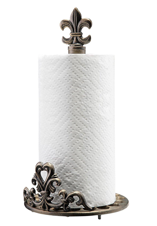 Elegant Fleur de lis Kitchen Countertop Paper Towel Holder SPI Home 33605