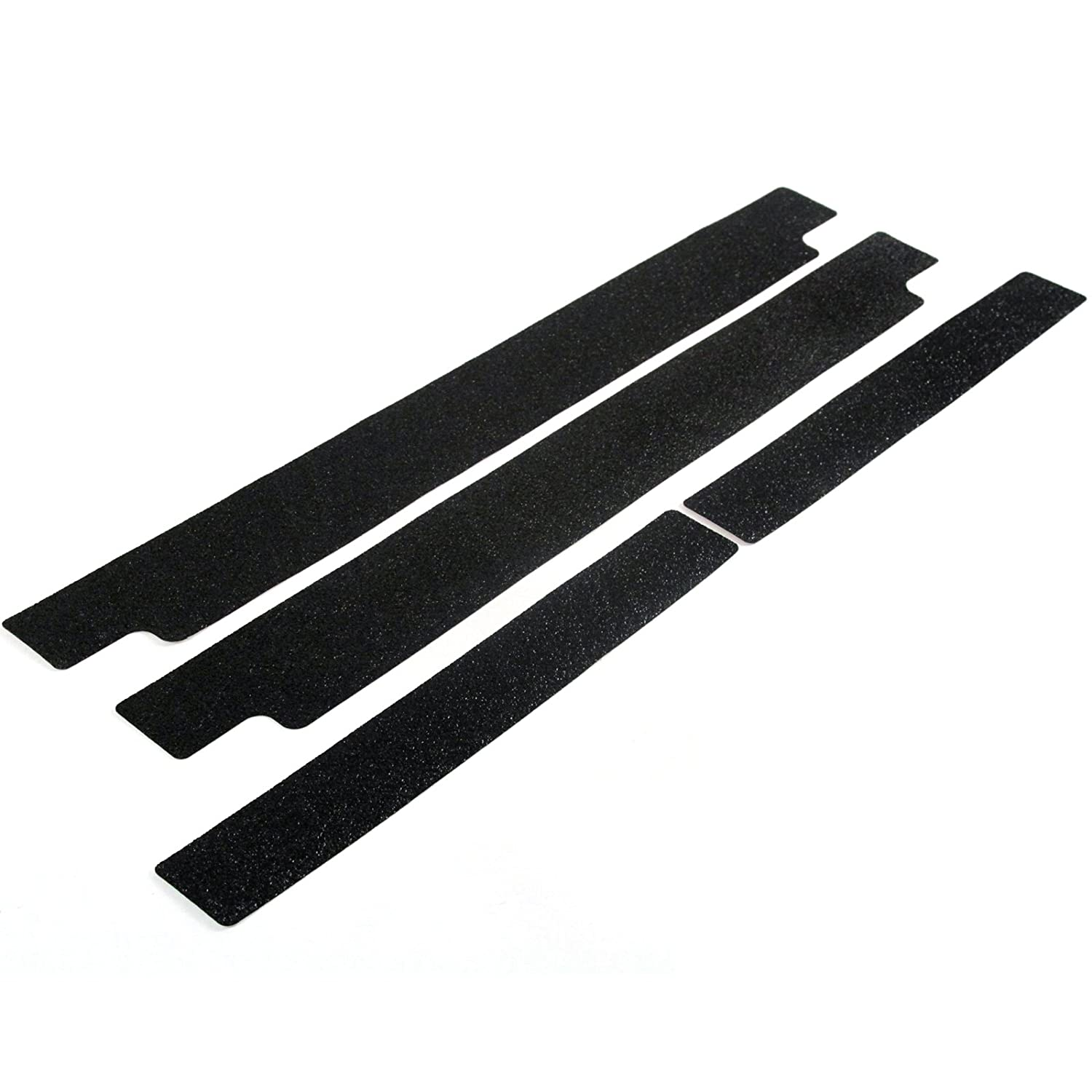 Custom Fit 2014-2016 Compatible with Toyota Tundra Double Cab Door Sill Applique Scuff Plate Scratch Protectors 4pc Kit Paint Protection Threshold Shield