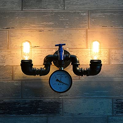 Ruanpu Vintage Tuyau Applique Murale Lampe Murale Luminaire Avec