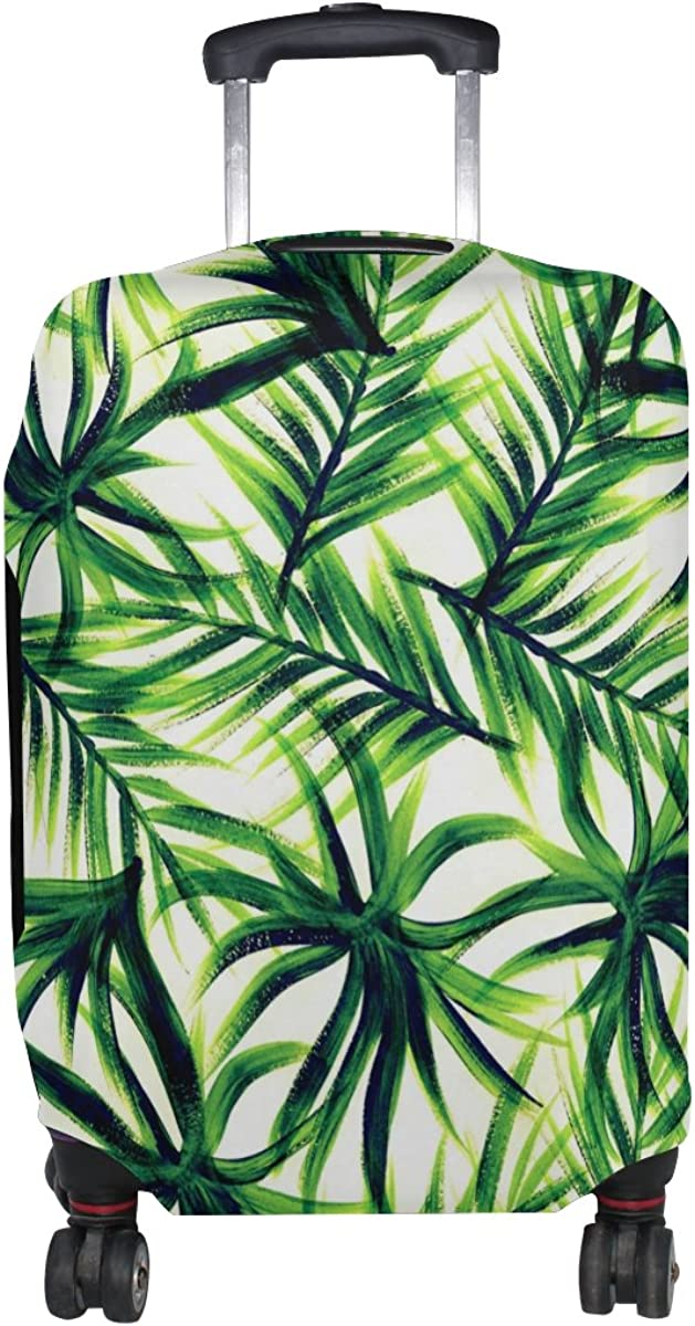 LAVOVO Tropical Green Leaves Luggage Cover Suitcase Protector Carry On Covers