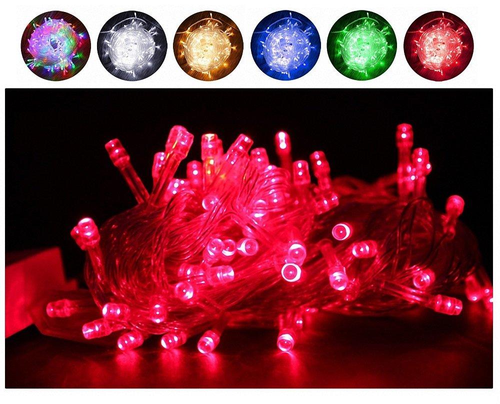 Fairy Lights, 10M 100 LEDs avec 8 types de modes clignotants, alimentés par Home Voltage. Utilisé pour l'arbre de Noël, festive, décorations de fête de mariage / anniversaire LED String Lights. OEM