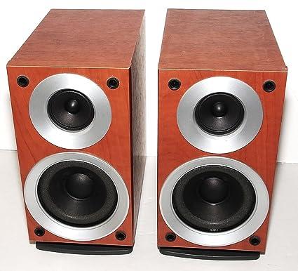 PAIR Of PANASONIC SB 19 2 WAY BI Amplification Compact Speakers In Wood Grain