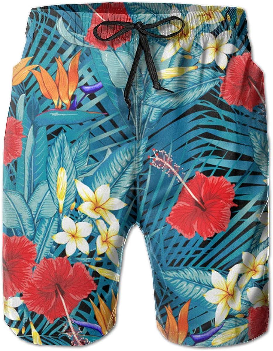 Lovely Happy Corgi Pattern Swim Shorts Mens Swim Trunks Beach Shorts Board Shorts