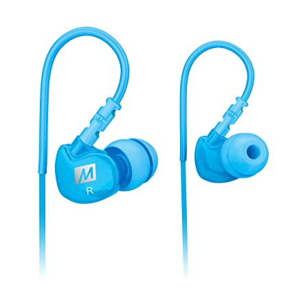 3751e0181c9 Amazon.com: MEE audio Sport-Fi M6 Noise Isolating In-Ear Headphones with  Memory Wire (Teal): Home Audio & Theater