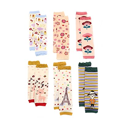6 Pairs Baby Cotton Leg Warmers Knee Protectors For 1~36 Months Baby