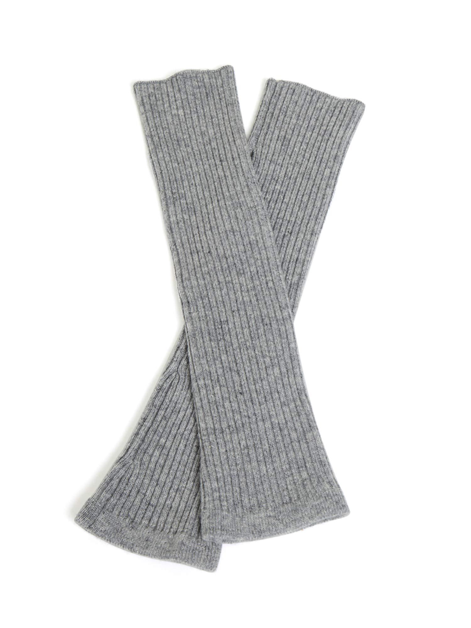 State Cashmere Women's 100% Cashmere Knit Long Fingerless Arm Warmers Mitten Gloves 13''
