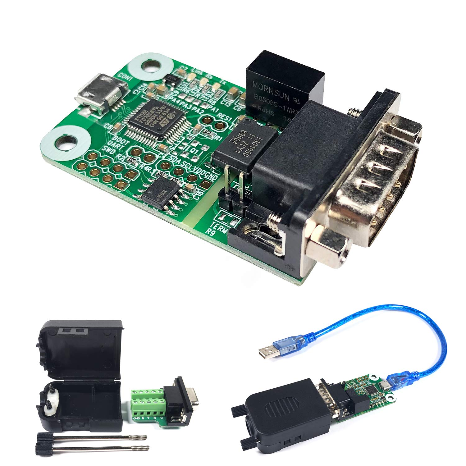 USB to CAN Converter Module, for Raspberry Pi4/Pi3B+/Pi3/Pi Zero(W)/Jetson Nano/Tinker Board and Any Single Board Computer Support Windows Linux and Mac OS