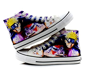 Naruto Cosplay Shoes Canvas Shoes Sneakers Colourful 2