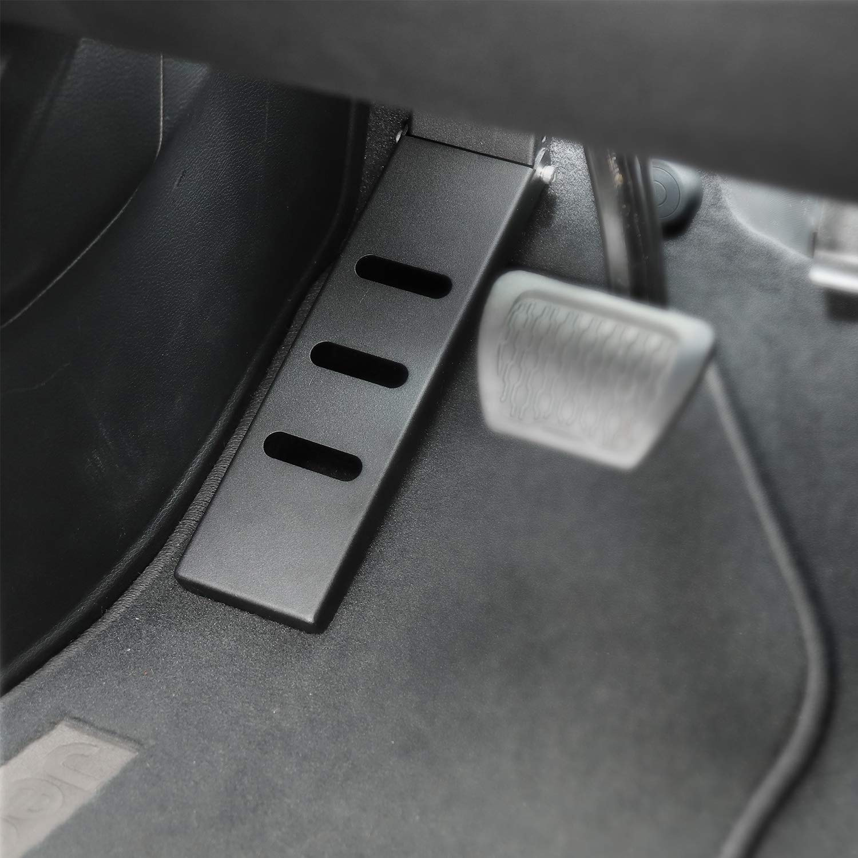 Black JeCar Steel Dead Pedal Left Side Foot Rest for Jeep Wrangler 2018-2020 Jeep Wrangler JL JLU Sport Sahara Rubicon