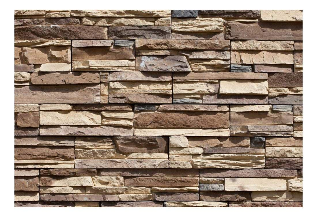 wall26 - Modern Neutral Colored Brick Pattern Wall - Wall Mural, Removable Wallpaper, Home Decor - 66x96 inches