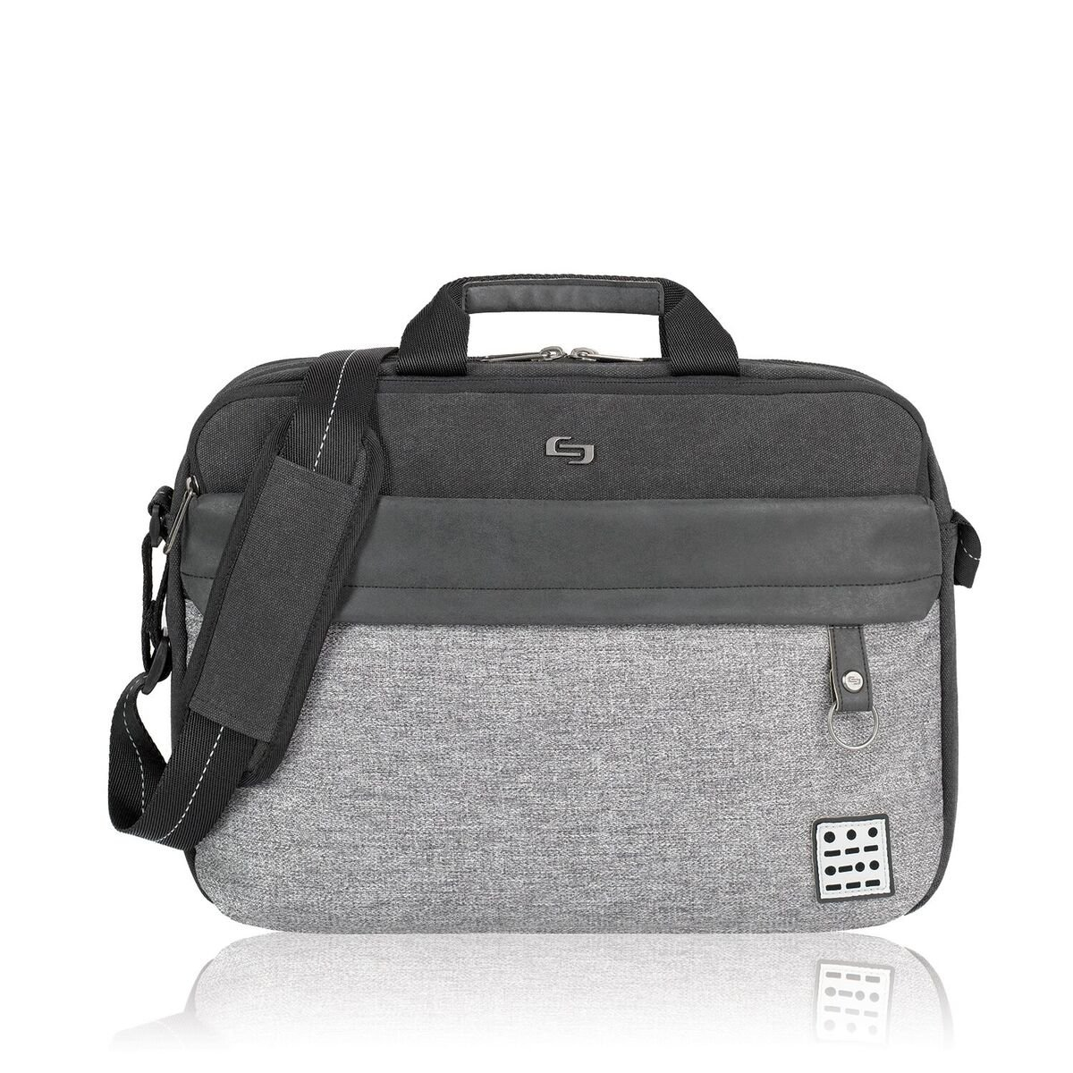 Solo Urban Code Laptop Briefcase 15.6'', Grey