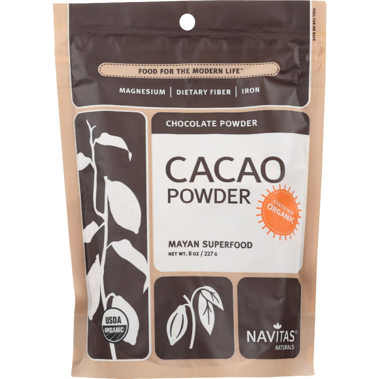 Navitas Naturals Cacao Powder - Organic - Raw - 8 oz - case of 12 - 100% Organic - Gluten Free - Yeast Free - Wheat Free-Vegan