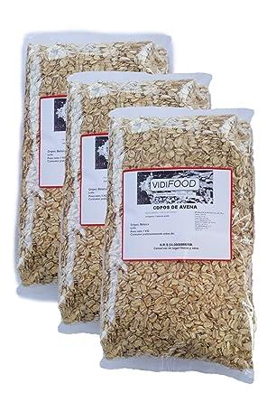 Copos de avena - 3kg - Rica en nutrientes, vitaminas y minerales - 100%