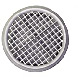 Round White Flush Fitting Plastic Air Vent With Insect