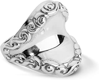 product image for Carolyn Pollack Sterling Silver Smooth Center Filigree Border Ring Size 05 to 10
