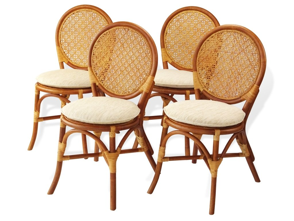 3 Pc Rattan Wicker Dining Set Round Table Glass Top+2 Denver Side Chairs.Colonial