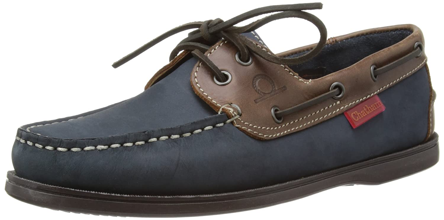 Chatham  Commodore,  Herren Bootschuhe  46 EU|Navy/Brown
