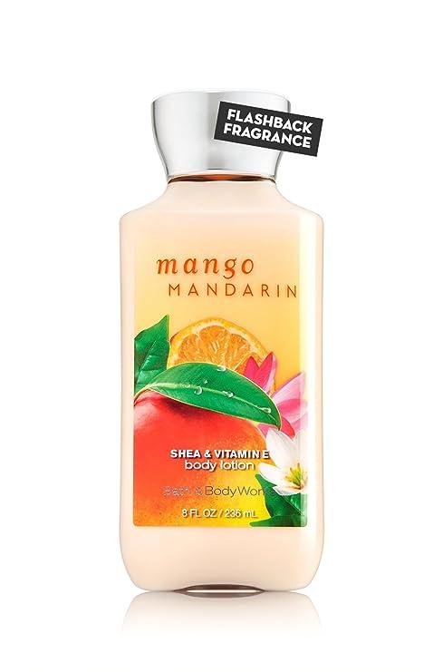 Bath & Body Works MANGO mandarina Karité & Vitamina E Loción Corporal Nuevo.