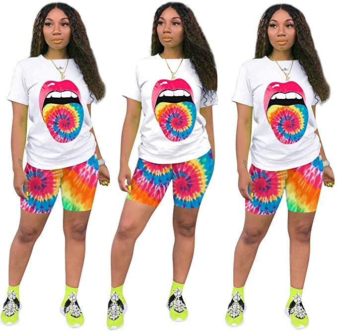 Amazon coupon code for Womens 2 Piece Outfits Casual Print